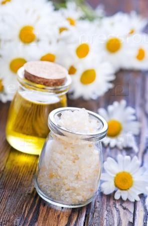 Ромашка, соли и масла