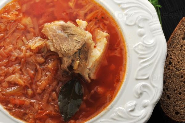 Традиционный русский суп - борщ