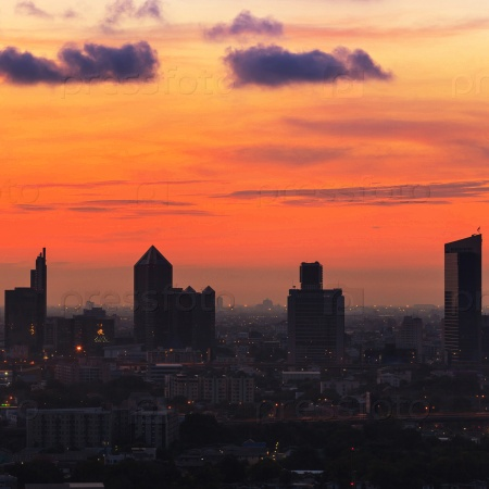 Восход солнца в Бангкоке