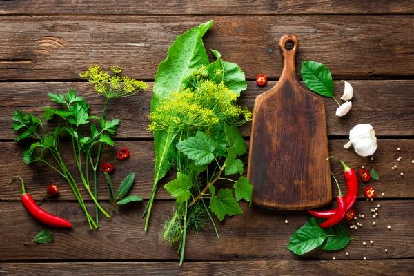 Кулинарный фон трав и специй
