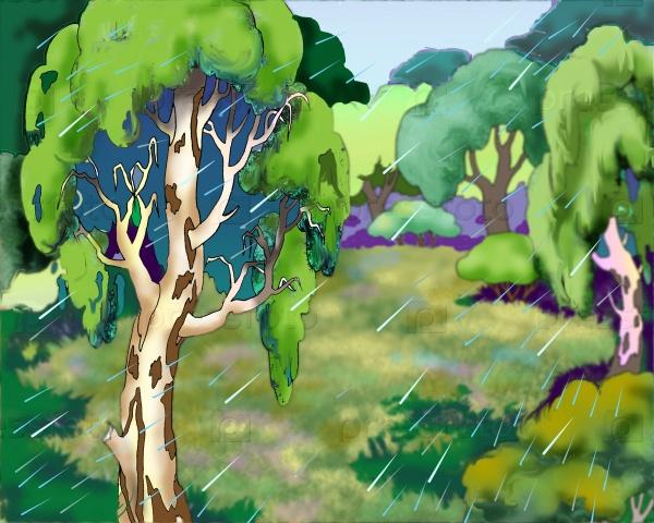 дождь в лесу слушать онлайн