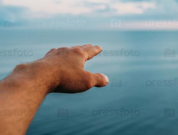 Указывая в даль моря
