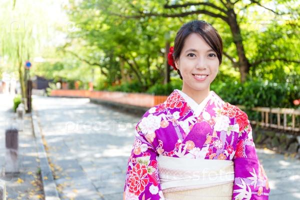 Японка в традиционном одеянии