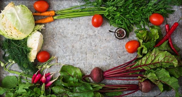 Набор различных свежих овощей