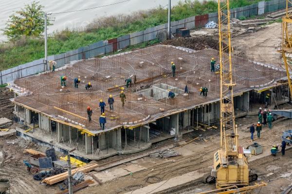 Строительство многоэтажного жилого здания