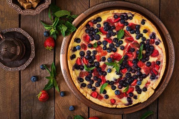 Французский пирог с ягодами