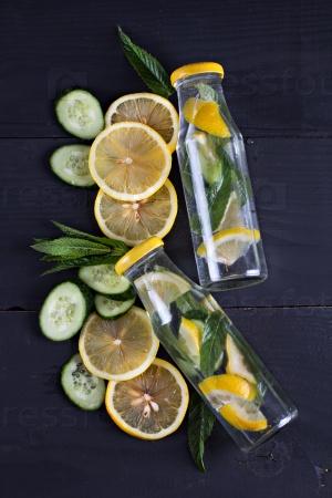 Бутылка с лимонадом
