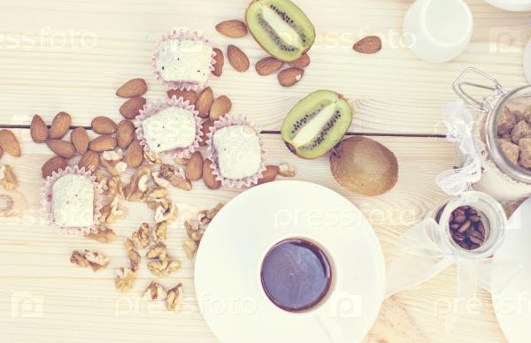 Домашние конфеты с кокосовым порошком