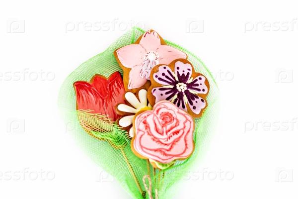 Печенье-цветы на День матери