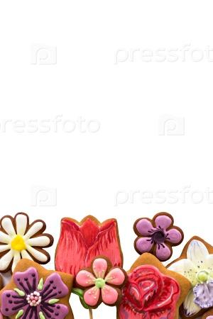 Печенье-цветы на Женский день