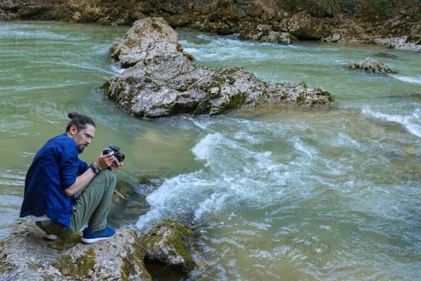 Фотографирование горной реки
