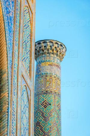 Минарет, Самарканд, Узбекистан