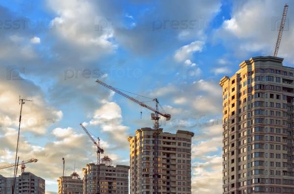 Строительство нового микрорайона