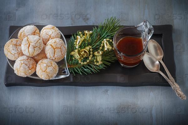 Рождественская композиция с печеньем