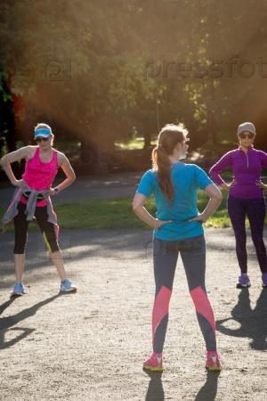 Женщины на пробежке