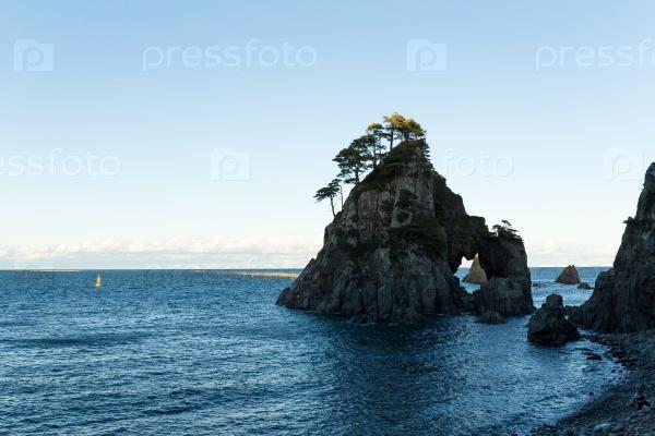 Морской пейзаж в Иватэ кен