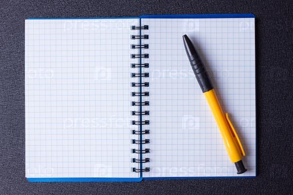 Блокнот на спирали с ручкой