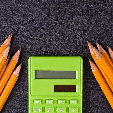 Карандаши и калькулятор