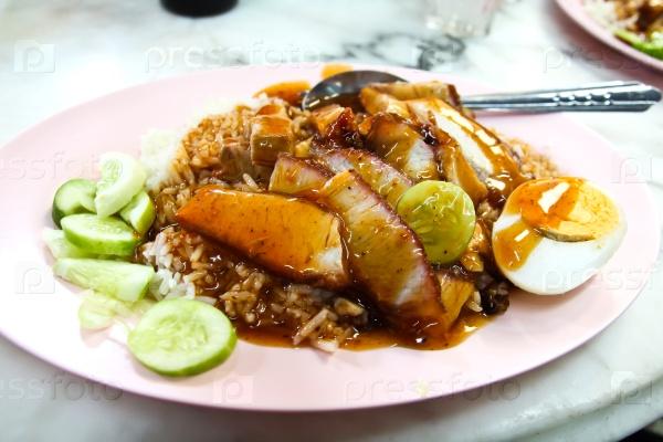 Вкусная свинина с рисом