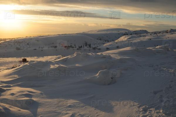 Рассвет в Хибинских горах