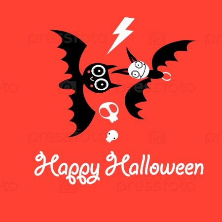 Поздравительная открытка на Хэллоуин