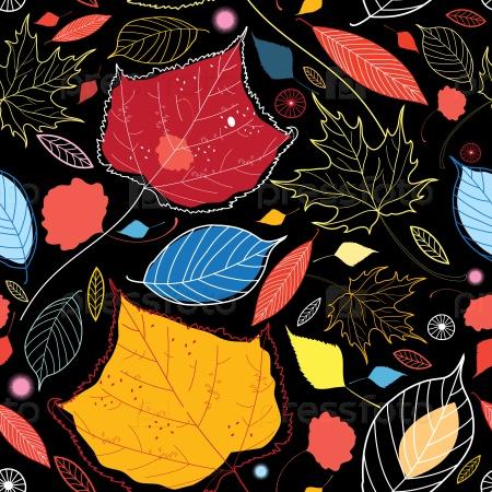 Бесшовные осенние листья