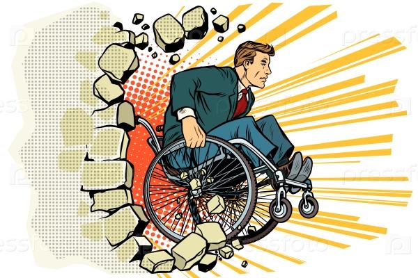 Бизнесмен в инвалидной коляске