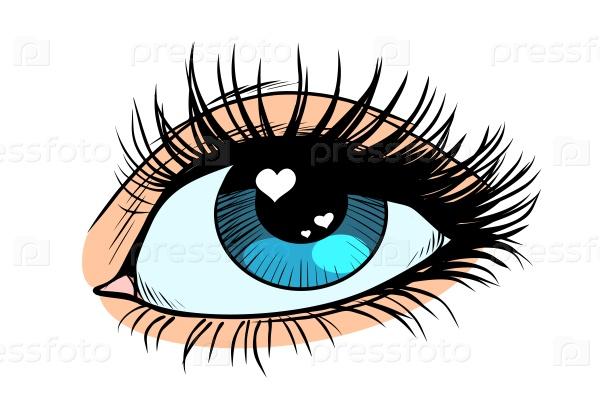 Сердце-блики в глазу