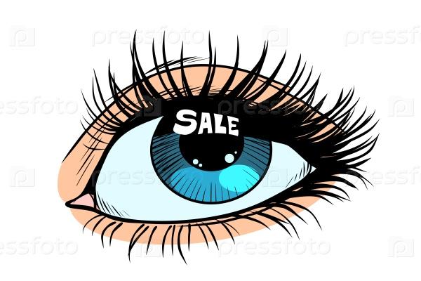 Распродажа в глазах женщины