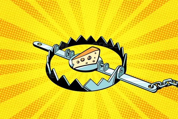 Железная ловушка с сыром