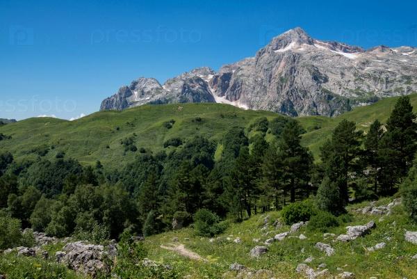Величественные горные пейзажи Кавказского заповедника