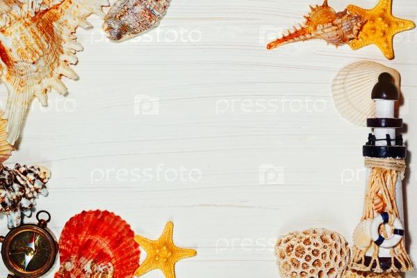 Рамка с морскими раковинами