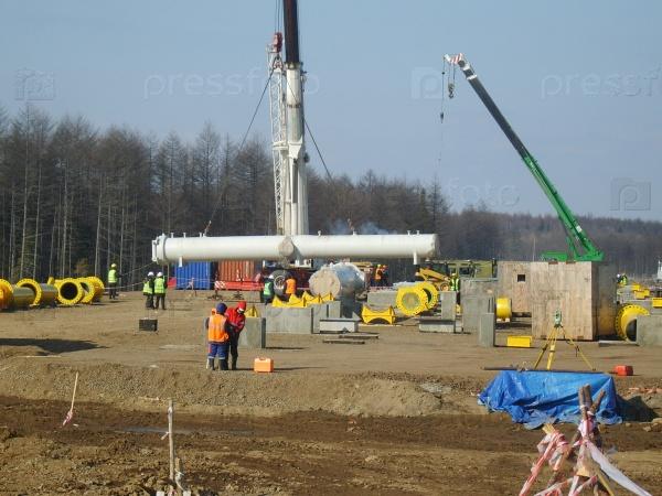 Строительство нефтегазового трубопровода, Россия, Сургут