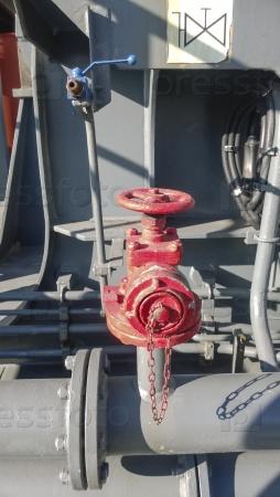 Ручной запорный клапан системы пожаротушения