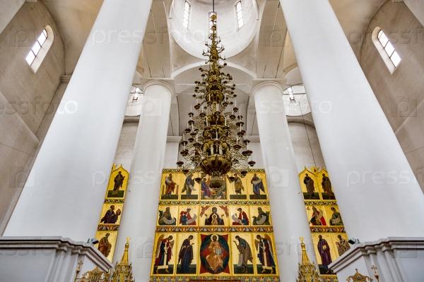 Интерьер Успенского Успенского собора, Ярославль, Россия