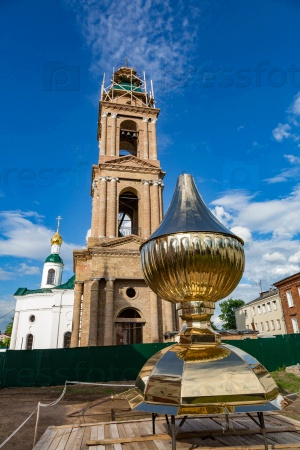 Церковь иконы Федоровской Божией Матери 19-го века в Угличе, Россия