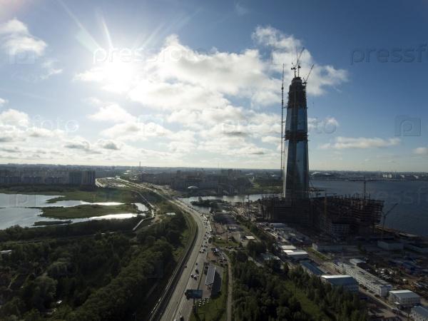 Строительство офиса «Газпрома». Санкт-Петербург