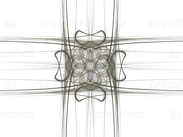3D-рендеринг с абстрактным фракталом