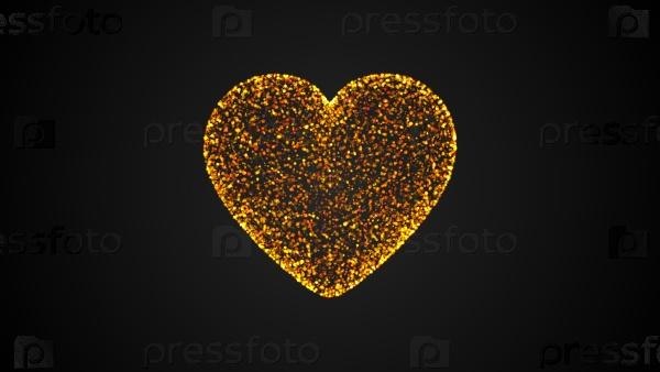 Сердце из частиц