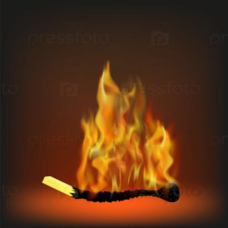 Сжигание спички