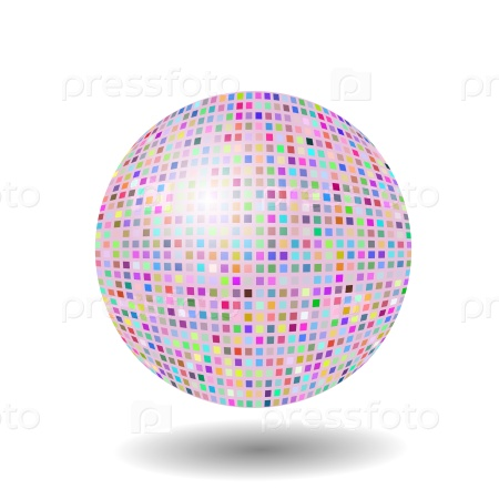 Цветная мозаичная сфера