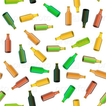 Цветные стеклянные бутылки фон