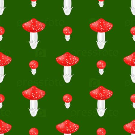 Красный гриб бесшовный фон