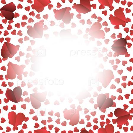 Романтический красный фон