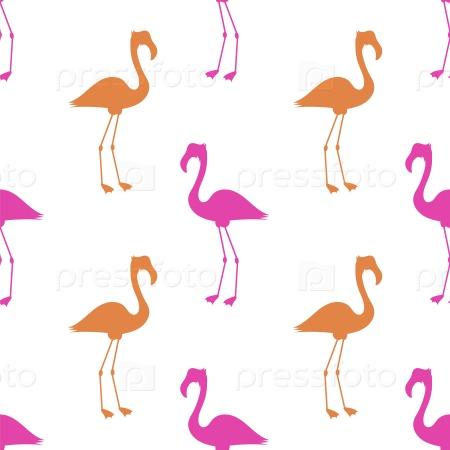 Розовый фламинго бесшовный фон
