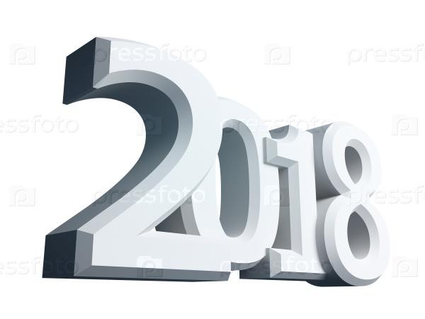 2018 год 3D фигура