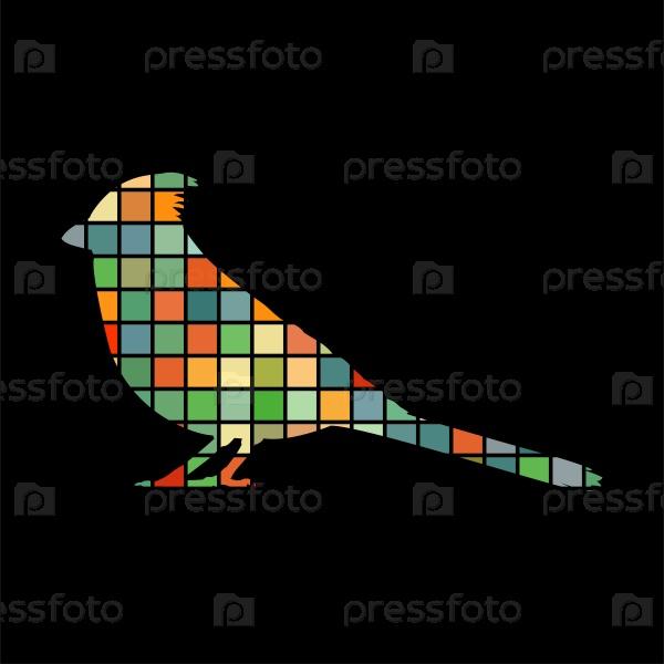 Кардинал птица мозаика