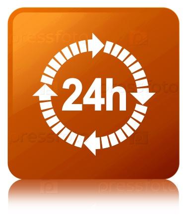 24 часа значок