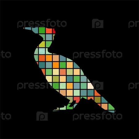 Баклан птица мозаика