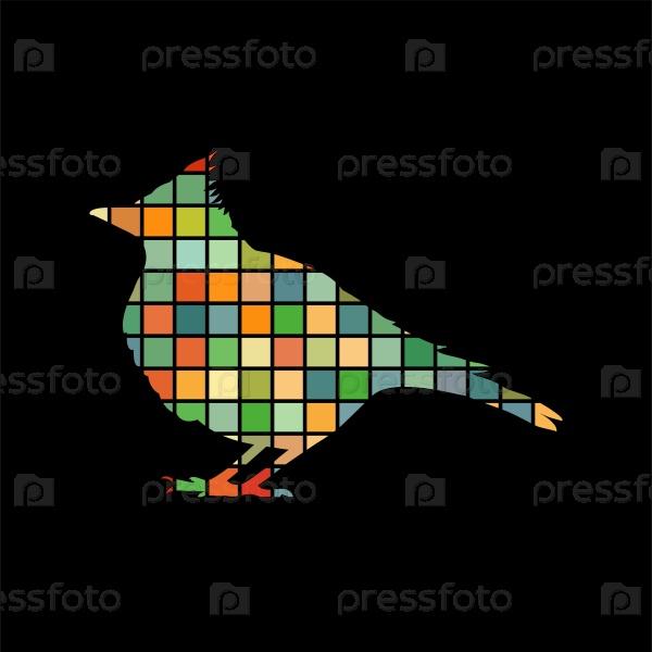 Жаворонок птица мозаика